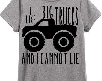 I like big trucks and i cannot lie child's Shirt / Onesie / Bodysuit