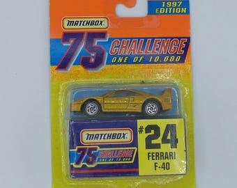 Matchbox 1997 Edition 75 Challenge #24 Ferrari F-40 (in original packaging)