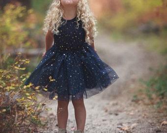 Navy blue Flower girl dress ,Flower girl dresses, Birthday dress, Christmas dress, Rustic flower girl dress, tulle dress, navy tutu dress