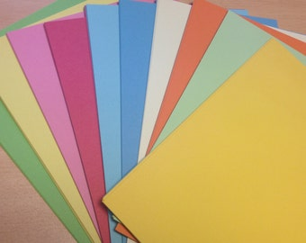 Recycled A4 Ten Colour Craft Card Mix 180gsm Assorted Colour Card Stock Choose Quantity