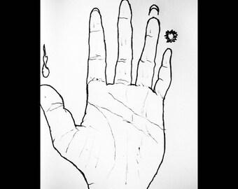 Palmistry Hand Print