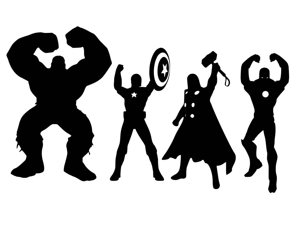 OHIO Superhero and Avengers svg pdf png dxf file