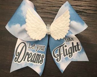 Let your Dreams take Flight Cheer Bow