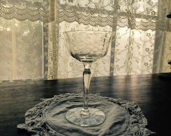 1929 Cambridge Crystal Optic Etched Tall Sherry or Sorbet Glass (stem #3051)