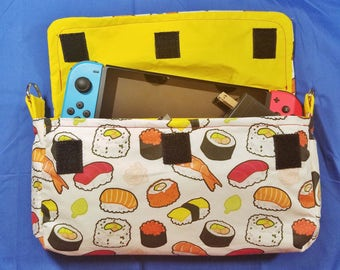 Sushi Pattern Nintendo Switch Carrying Case - Made to Order