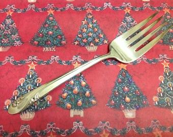 """Vintage HOLMES & EDWARDS 1952 ROMANCE Cold Meat Serving Fork 9"""""""