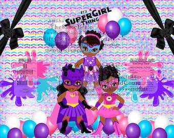 It's A SuperGirl ThingChip /Treat Bag Digital Print DIGITAL DOWNLOAD .PNG