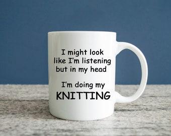 Kayaking Mug, Knitting Coffee Mug, Knitting Gift, Knitting Gift Idea, Knitting Gift Mug, Knitting Ideal Gift, Knitting Mug Gift, Knitting