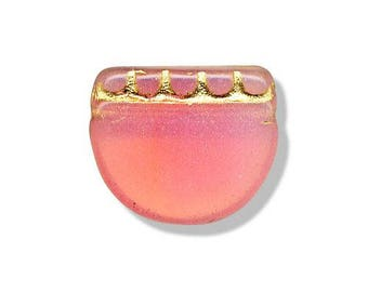 2 14x17mm Czech glass beads