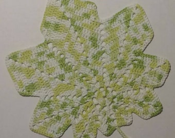 Hand Crocheted Leaf Placemats set of 4