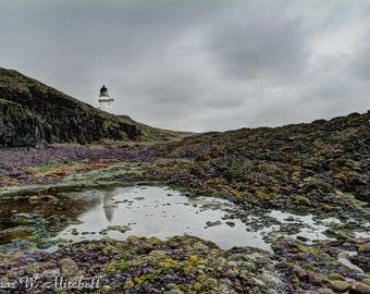 Loose Prints,Todhead Lighthouse Reflection,Scotland,Fine Art Photography