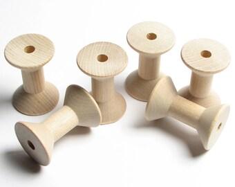 Wooden Craft Spools/6-Piece