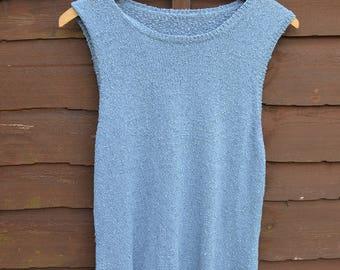 Ladies blue tank top