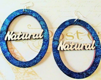 "Blue and White ""Natural"" Earrings"