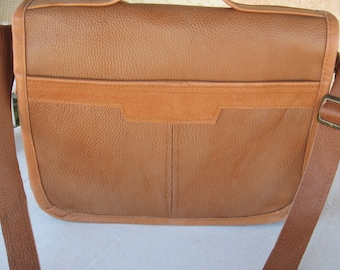 Vintage Simple leather Messenger Bag