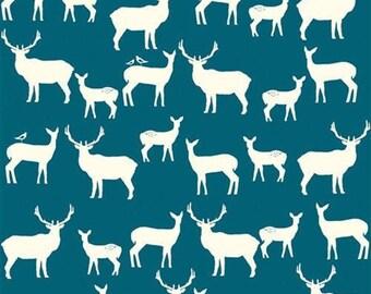 Birch Elk Fam Teal-Mod Basics 2-by Birch Organic fabrics-ONE yard