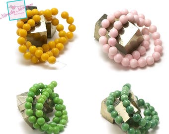 "wire 39cm 49 ""10 mm round"" mashan jade beads, choice of color"