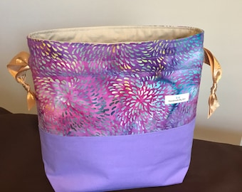 Batik Print Drawstring Bag- Medium