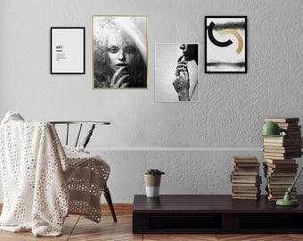 Gallery Wall Prints, Fine Art Photography Collection, Living Room Decor, Black and White Prints, Scandinavian Posters, Apartment Art, Boho