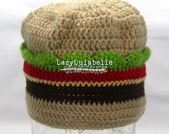 Cheeseburge Crocheted Novelty Hat