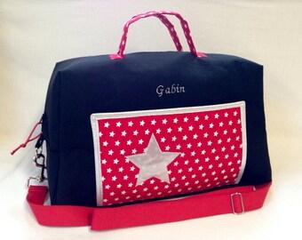 CUSTOM bag has diaper black + red + silver