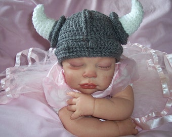 Baby Viking HAT Football Hat Renaissance Newborn 3m 6m Crochet Photo Prop Baby Clothes Boy Girl Gender Neutral  Halloween Costume Cute