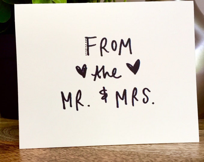 Wedding Greeting card bulk,  mr and mrs,Thank You Cards 10, Rustic Thank You Card Set, Wedding Thank You Cards, thank from bride and groom