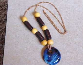 Clay & Wood Necklace