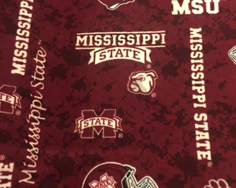 Mississippi State University fleece throw