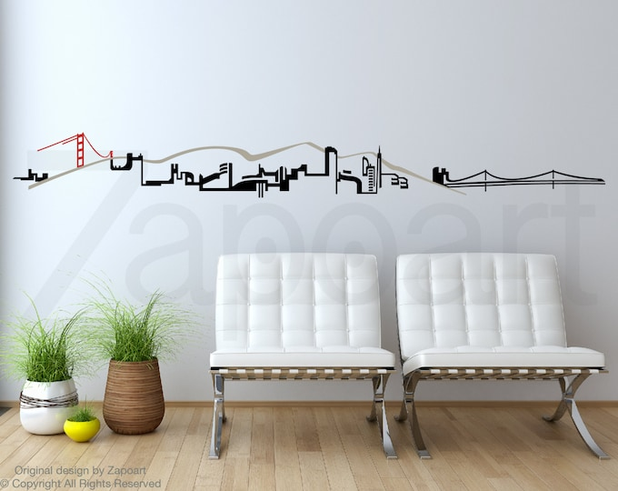 Featured listing image: San Francisco Skyline Wall Decal