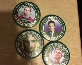 Oliver Queen Campaign Buttons