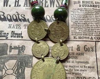Vintage Peruvian Coin Necklace