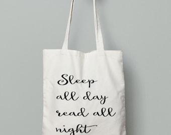 Book Lover Tote Bag - Shopping Tote Bag - Canvas Tote Bag - Printed Tote Bag - Cotton Tote Bag - Large Canvas Tote - Library Bag -  Book Bag