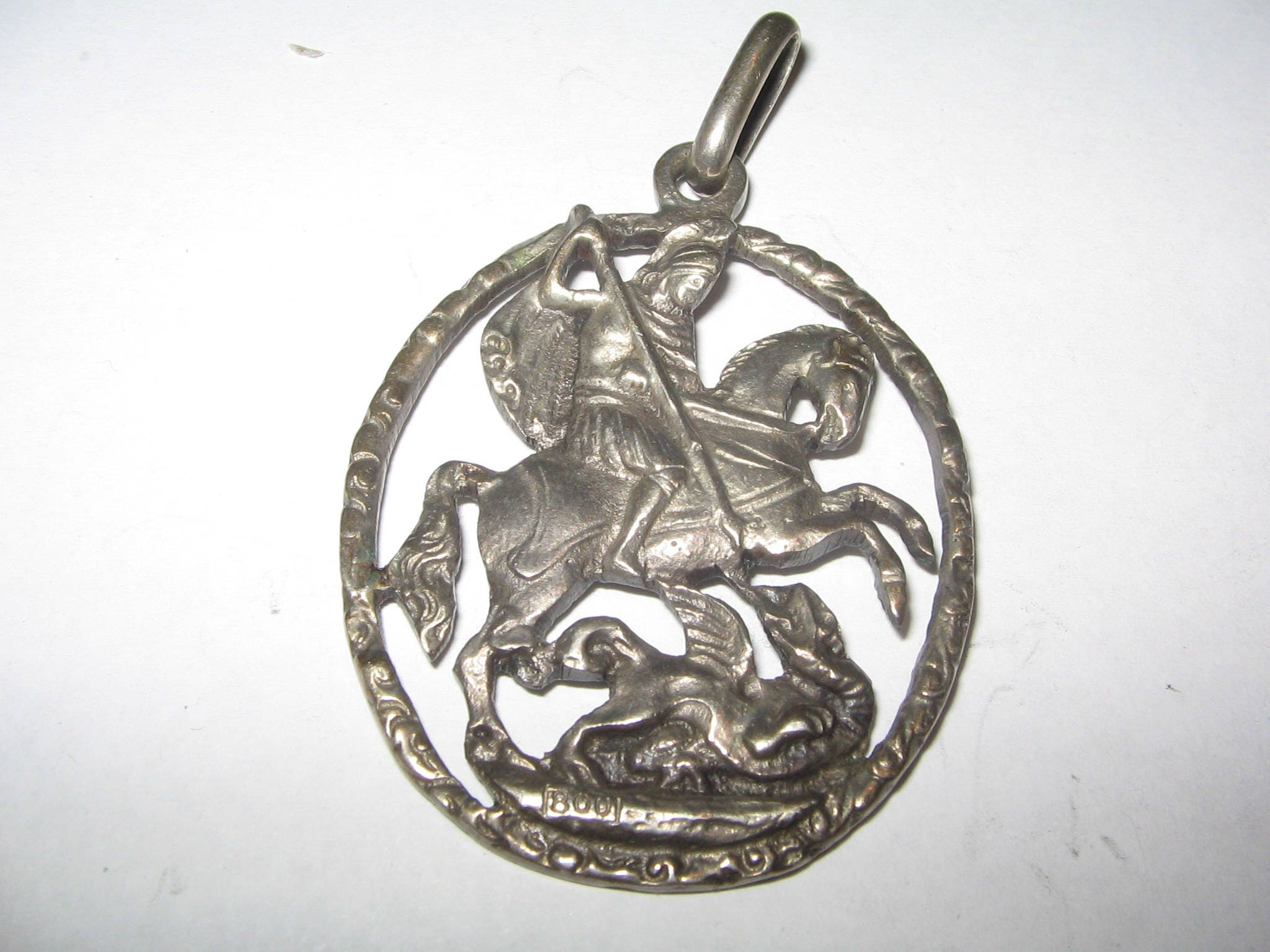 gold yellow george itm pendant st ebay