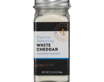 White Cheddar Popcorn Seasoning with White Cheddar Cheese, Parmesan and Romano