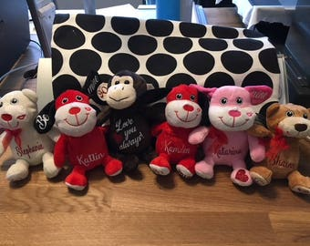 Personalized Soft Valentine's Day Plush - Free Shipping