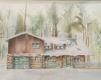 8X10 to 12X16 House Portrait in Watercolor!
