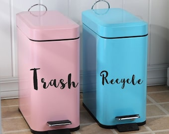 Recycle and Trash Decal Set Choose From 2 Styles