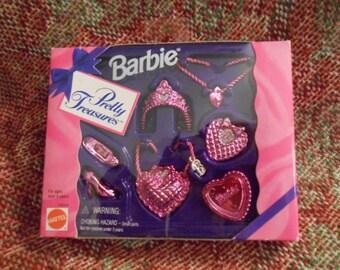 1995 Mattel Barbie's Pretty Treasures-Pink - Sealed Box