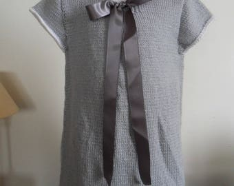 Dress gray and white 24 months girl