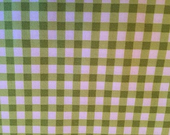 Gingham Lime Green Checks Picnic Gingham Green and White Plaid Picnic from Michael Miller
