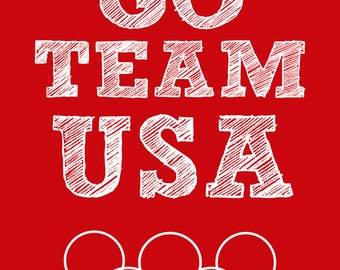Team USA 8x10 Olympic Printable 8 x 10 Sign Picture America