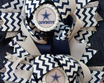 Custom Dallas Cowboys hairbow