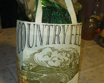 Gift Bag from Recycled Feed Bags