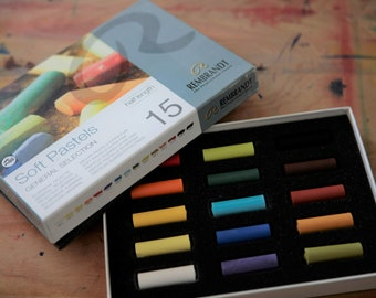 Box of 15 Rembrandt Soft Pastels and Box of 12 Prismacolor NuPastels BRAND NEW