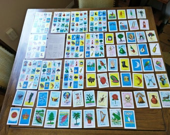 SALE Loteria 10 game boards & 54 cards fiesta birthday DIY Mexican wedding craft Quinceañera Father's day taco party mixed media art supply