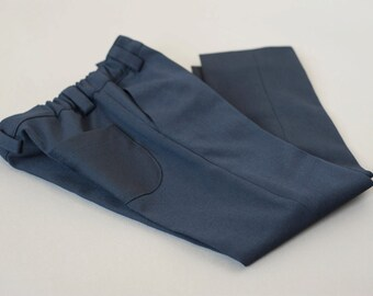 Dark blue wool boys suit trousers