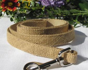 Burlap Dog Leash~Premium Sultana Burlap Leash~Dog Ring Bearer~Dog Lead~Dog Wedding Attire~Autumn~Rustic Wedding~Fall Wedding~Country Wedding