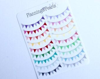 Banner Stickers | 18 Planner Stickers