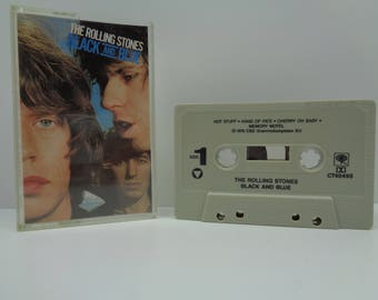Rolling Stones Black and Blue Cassette